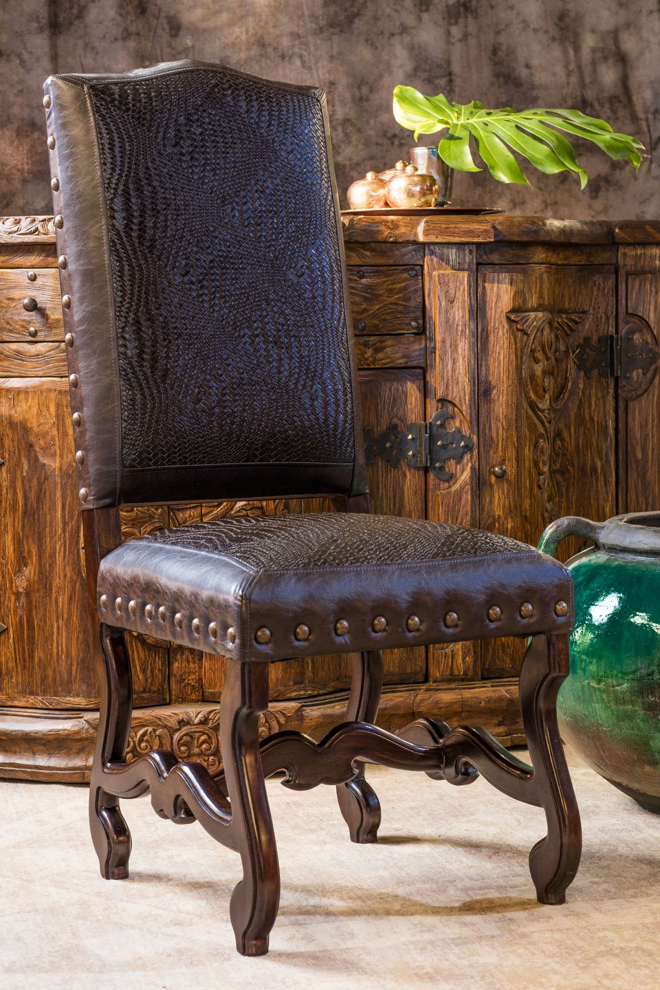 Blevins Leather Dining Chair Brumbaugh S Fine Home Furnishings Upscale Western Fort Worth Tx Tuscan Decorating Rustic Furniture Leather Dining Chairs