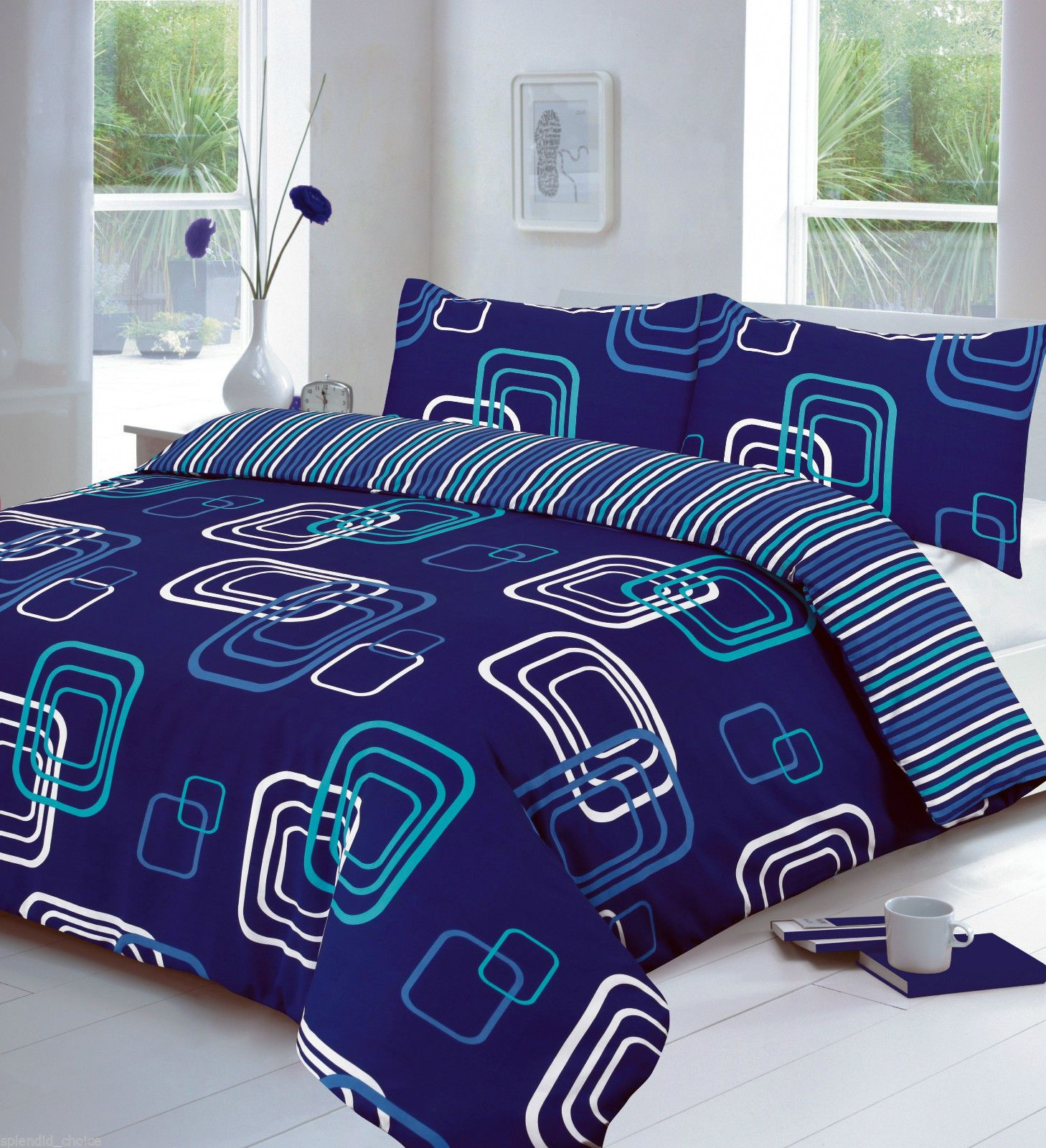 Duvet Quilt Cover with Pillow Cases Bedding Set Single