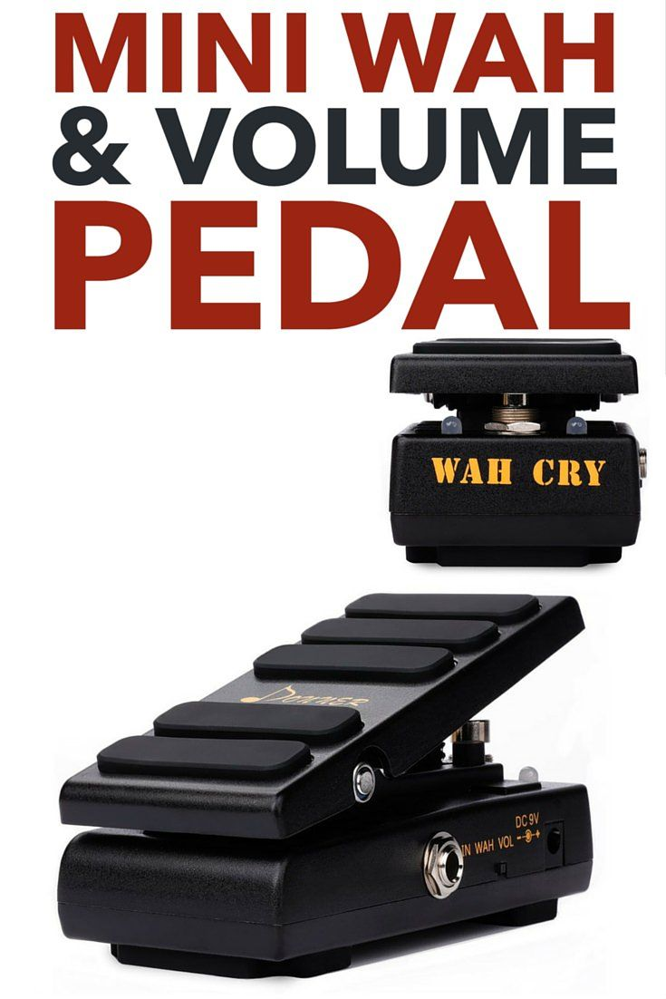 9 donner wah cry 2 in 1 mini guitar wah effect volume. Black Bedroom Furniture Sets. Home Design Ideas