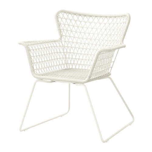 IKEA   HÖGSTEN, Chair With Armrests, Outdoor, Hand Woven Plastic Rattan  Looks Like Natural Rattan But Is More Durable For Outdoor Use.