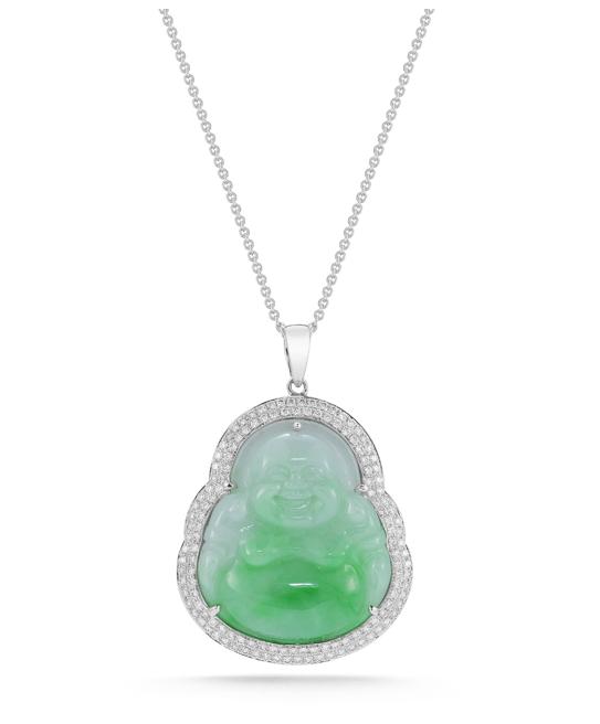 f872c2d04707ad Dana Rebecca Designs One of a Kind Necklace - My lucky Buddha! #buddha  #jade #diamond #necklace