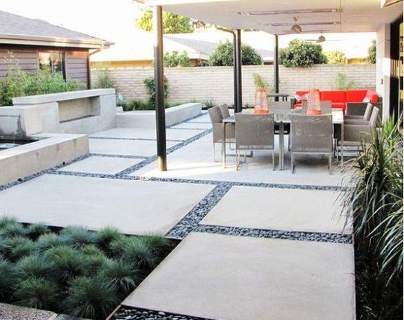Backyard Patio Concrete Design | Ideas for the House | Pinterest ...