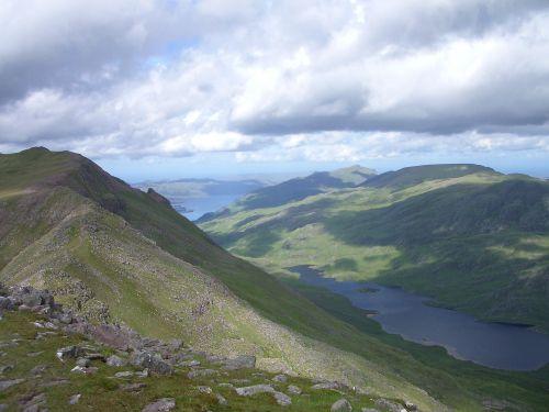Loch Maree and Lochan Fada from Slioch