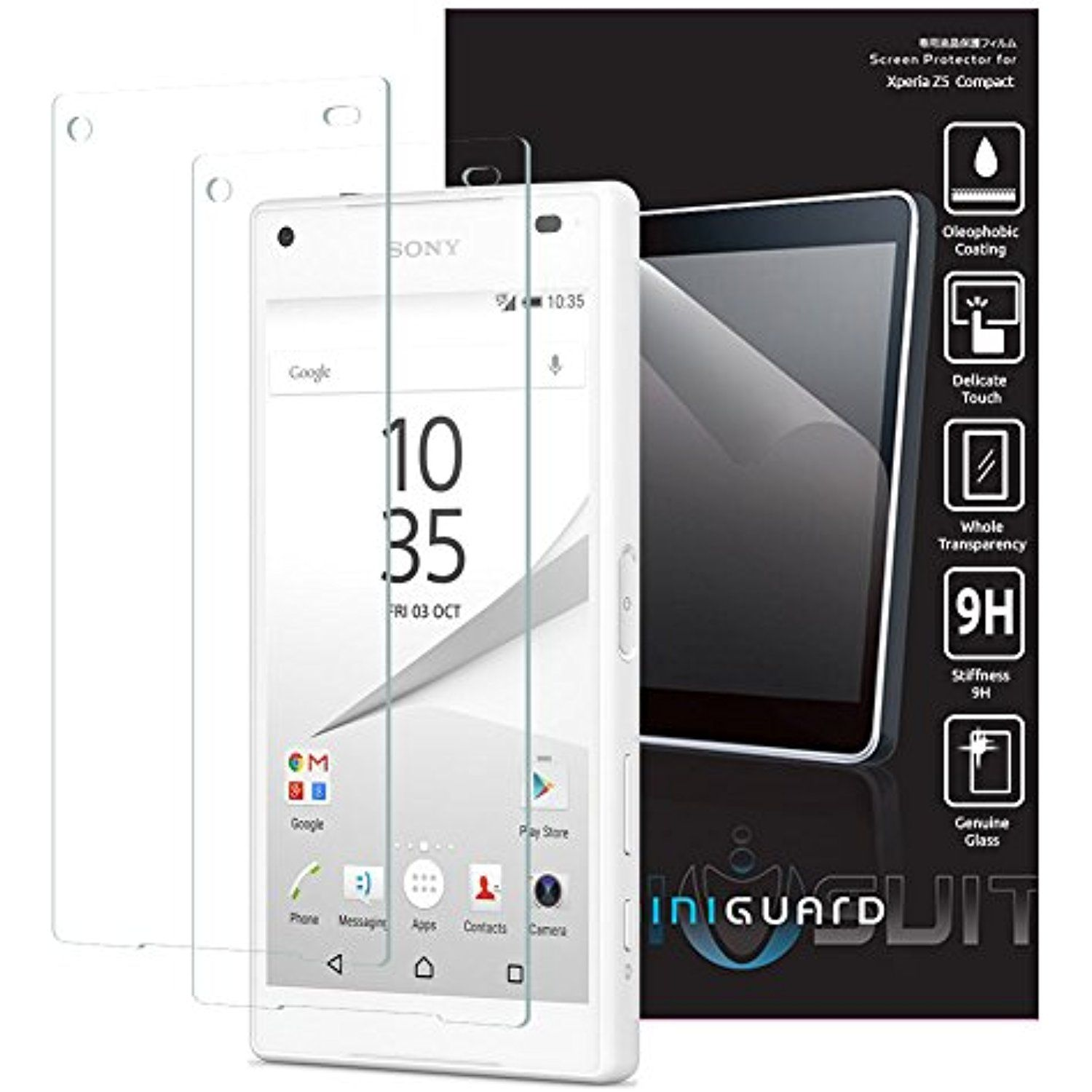 Miniguard Tempered Glass Screen Protector (2 Pack) For Sony Xperia