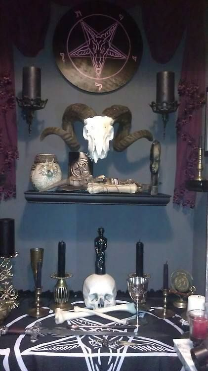 Spruce up your alcove with a Satanic Altar