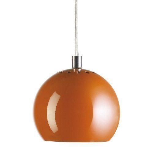 Frandsen Ball Pendant Light In Matt Orange Amazon Co Uk Lighting 163 65 Utility Room Lighting