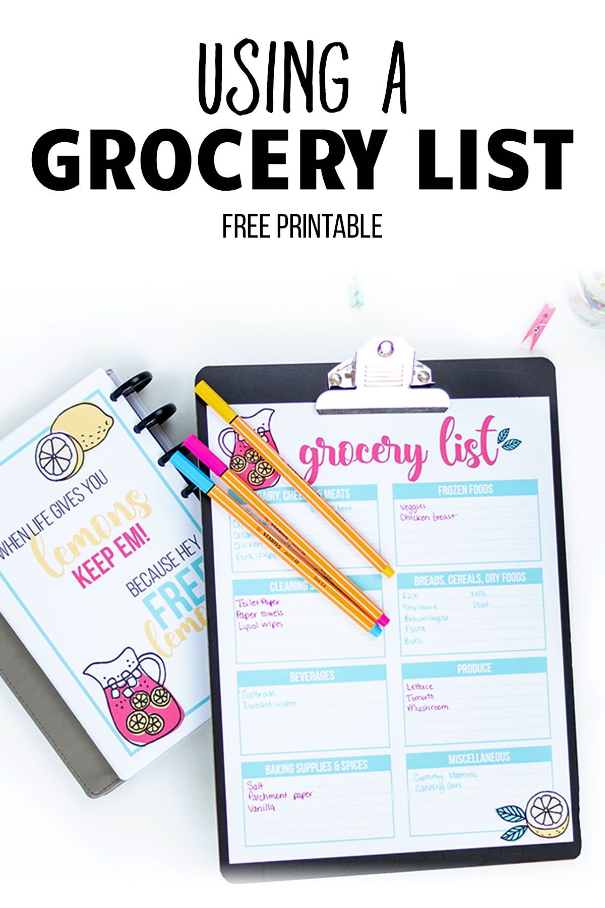 Using A Grocery List Template I Heart Planners Grocery List Template Grocery Lists Grocery