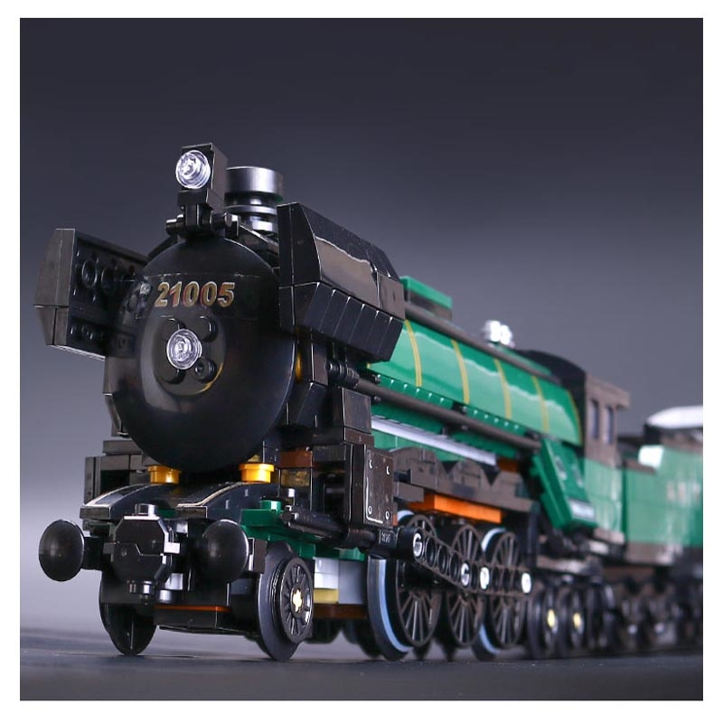 56.49$  Buy here - http://alixtj.shopchina.info/go.php?t=32810392071 - LEPIN 21005 series the Emerald Night model building blocks set Classic compatible Steam trains Toys 10194 Educational DY Gift 56.49$ #magazineonline