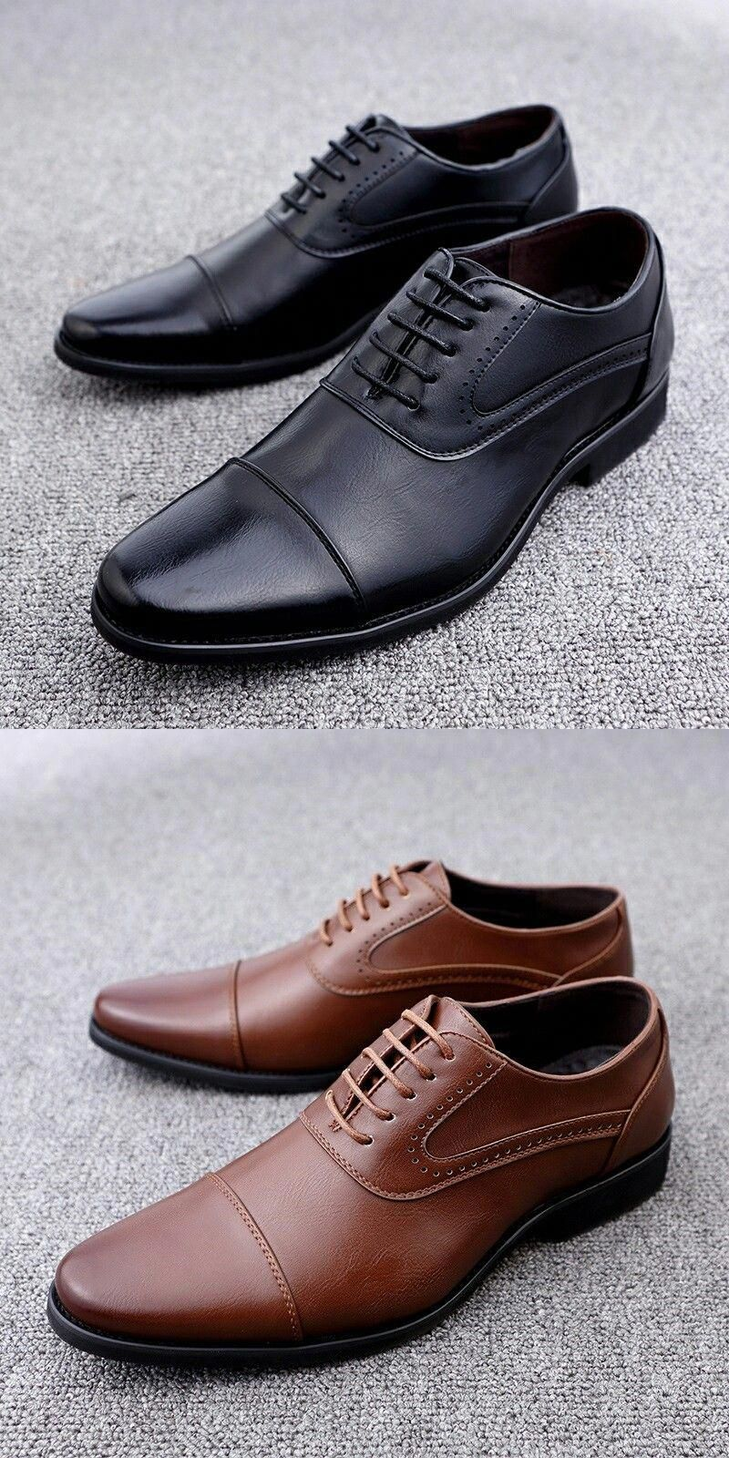 Mens Leather Lined Smart Wedding Shoes Formal Office Casual Party Dress Shoes