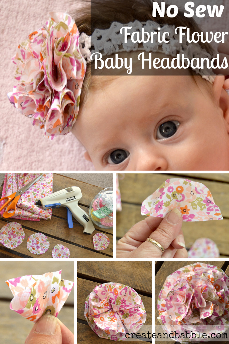 Diy hair accessories for baby girl - Easy To Make No Sew Fabric Flower Baby Headband Pick Your Plum