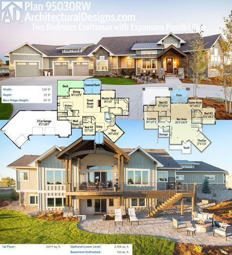 Plan 95030rw two bedroom craftsman house plan with for House expansion plans