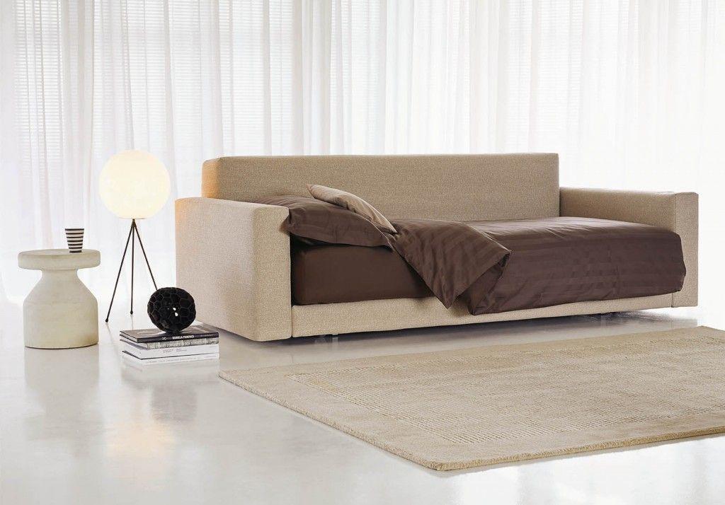 Divano Letto Piazza Duomo di Flou, trasformabile in letto singolo o ...