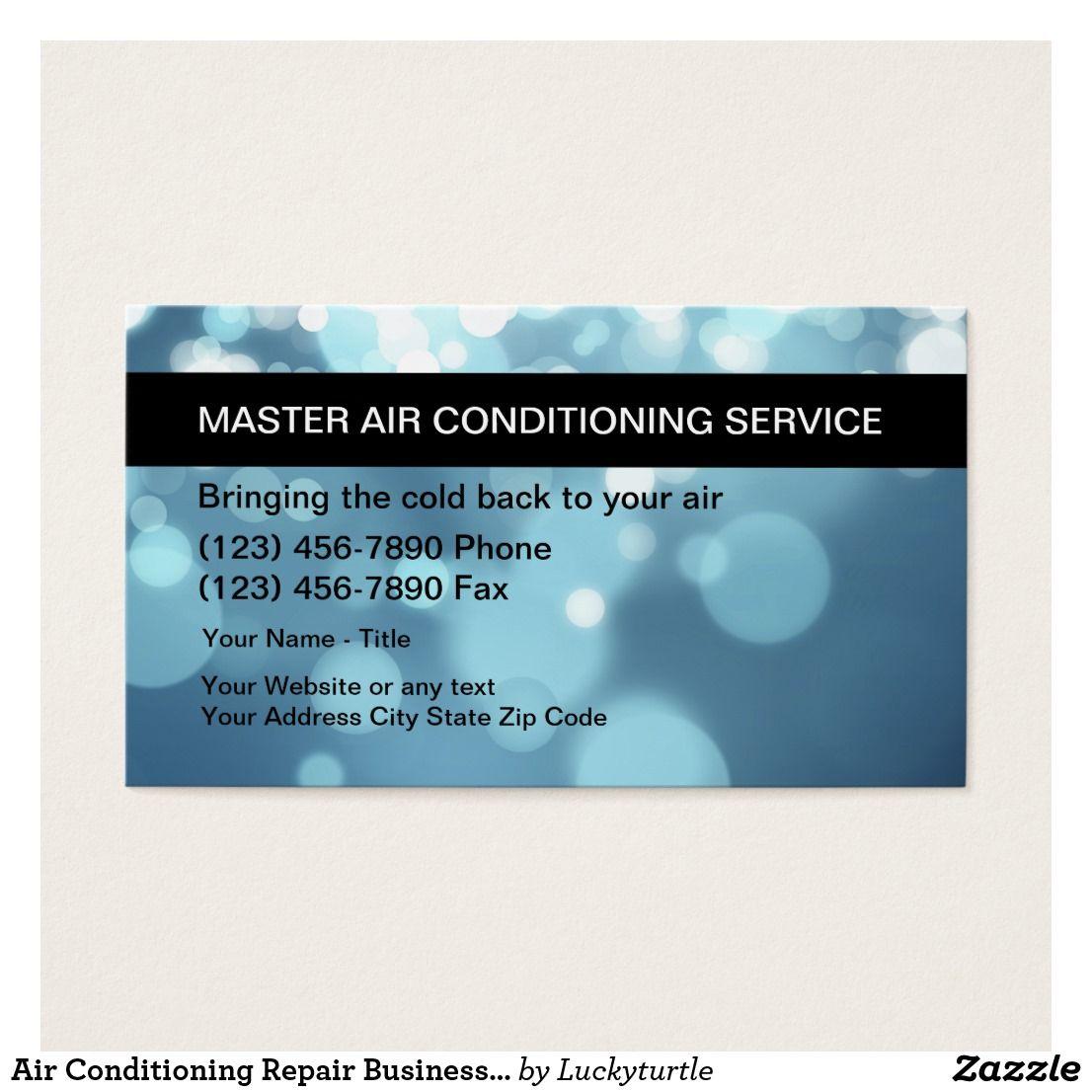 Air Conditioning Repair Business Cards Zazzle Com Vizitki