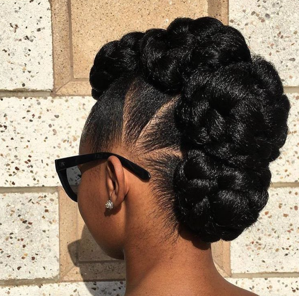 Loving this faux hawk notoriousnneka blackhairinformation
