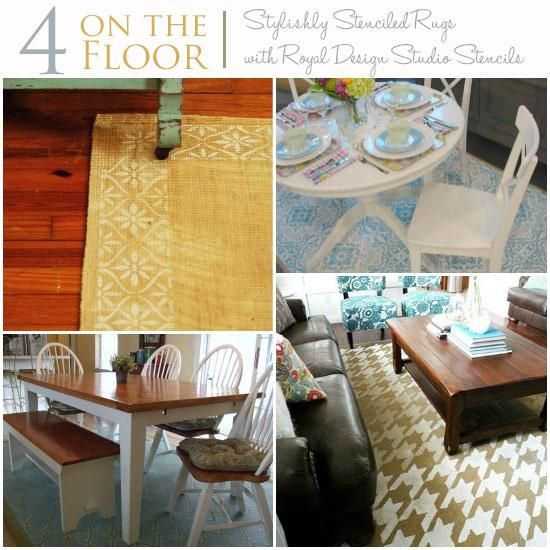 Stylishly Stenciled Indoor Rugs Stencil