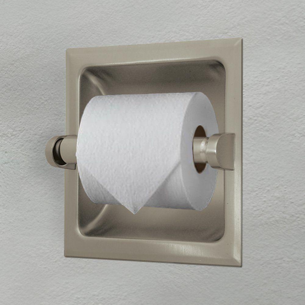 Gatco 780 Recessed Toilet Paper Holder Satin Nickel