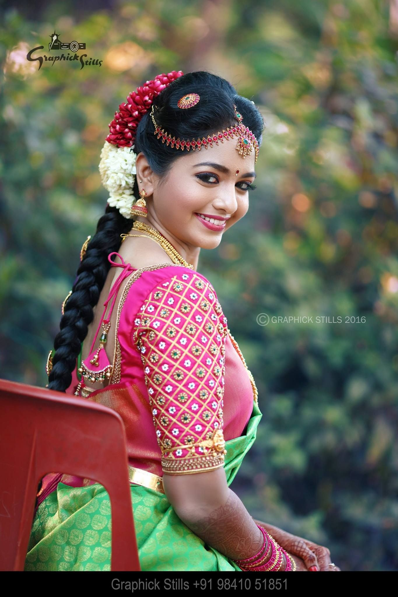 Pretty bride with elegant yellow musk with pink silk saree enhanced ...