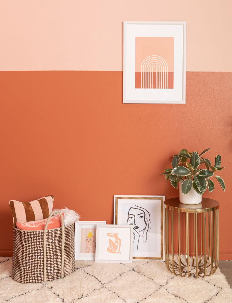 Color Adventures A Rust Living Room Via Oh Joy Room Wall Colors Living Room Orange Living Room Wall Color #orange #living #room #paint