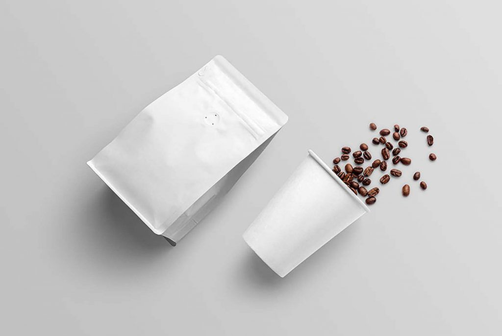 Download Free Paper Coffee Bag And Paper Coffee Cup Mockup Package Mockups Paper Coffee Cup Packaging Mockup Coffee Packaging