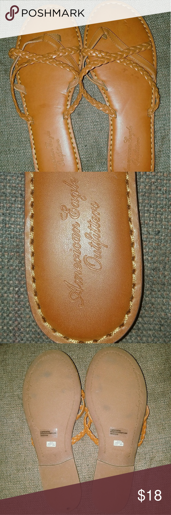 Women's Sz 10 Leather American Eagle Sandals These are brand new without tags. Size 10 in womens. American Eagle Outfitters Shoes Sandals