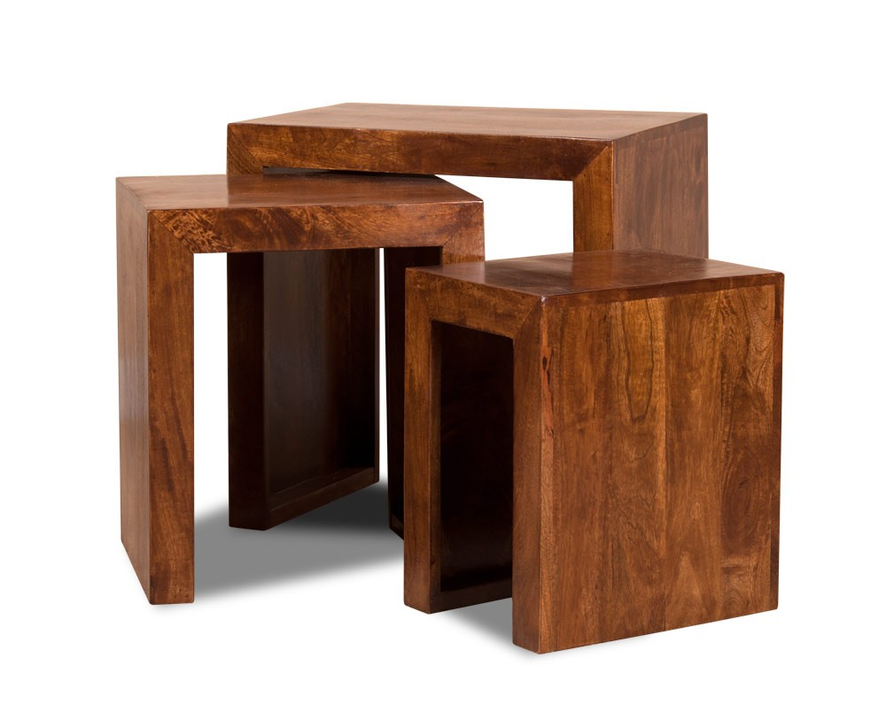 Dakota Mango Trio Table Nest Mango Wood Coffee Table Mango Wood Mango Wood Furniture [ 813 x 1000 Pixel ]