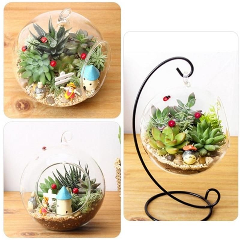 Photo of 15cm Clear Round Glass Vase Bottle Terrarium Hydroponic Container Pot Flower DIY Home Table Wedding Decoration Glass Vase