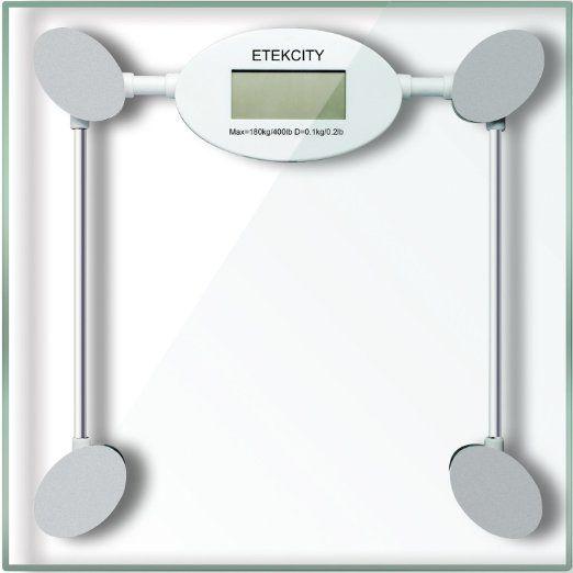Etekcity Digital Body Weight Bathroom Scale 400lb 180kg White 2016 Top Rated Bath Kitchen