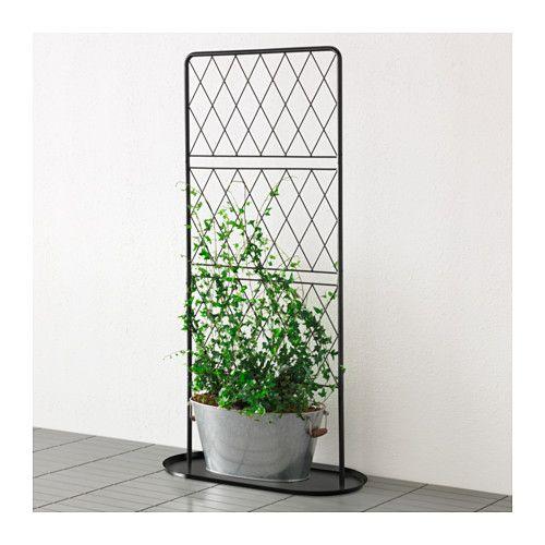 bars spalier mit bodenplatte ikea balkonien pinterest spalier ikea und schwarzer. Black Bedroom Furniture Sets. Home Design Ideas