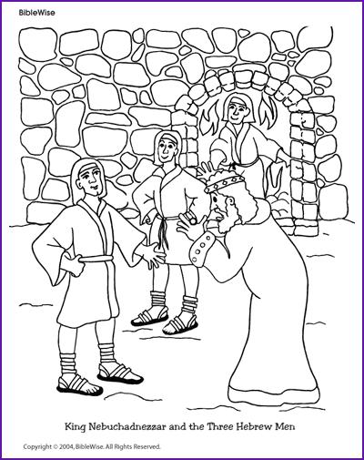 Coloring (King Nebuchadnezzar and Three Hebrew Boys