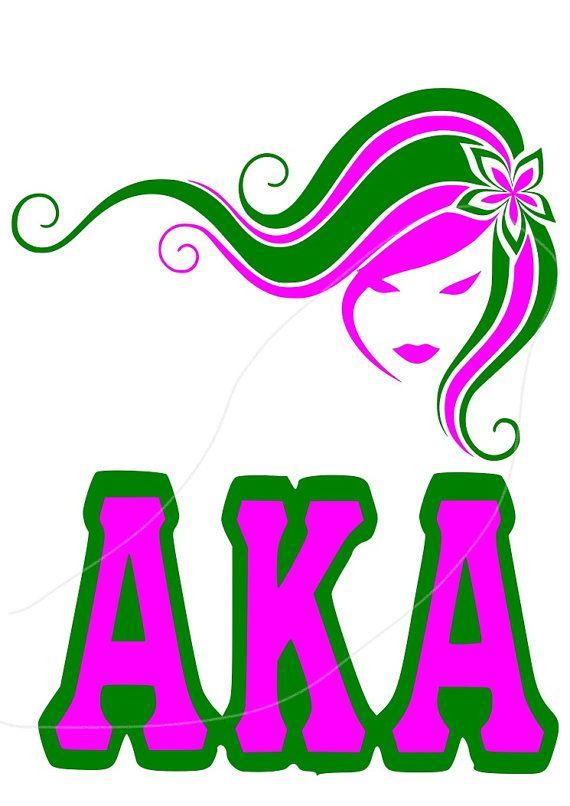 AKA Girl Svg Dfx File Aka Sorority SVG Alpha Kappa By