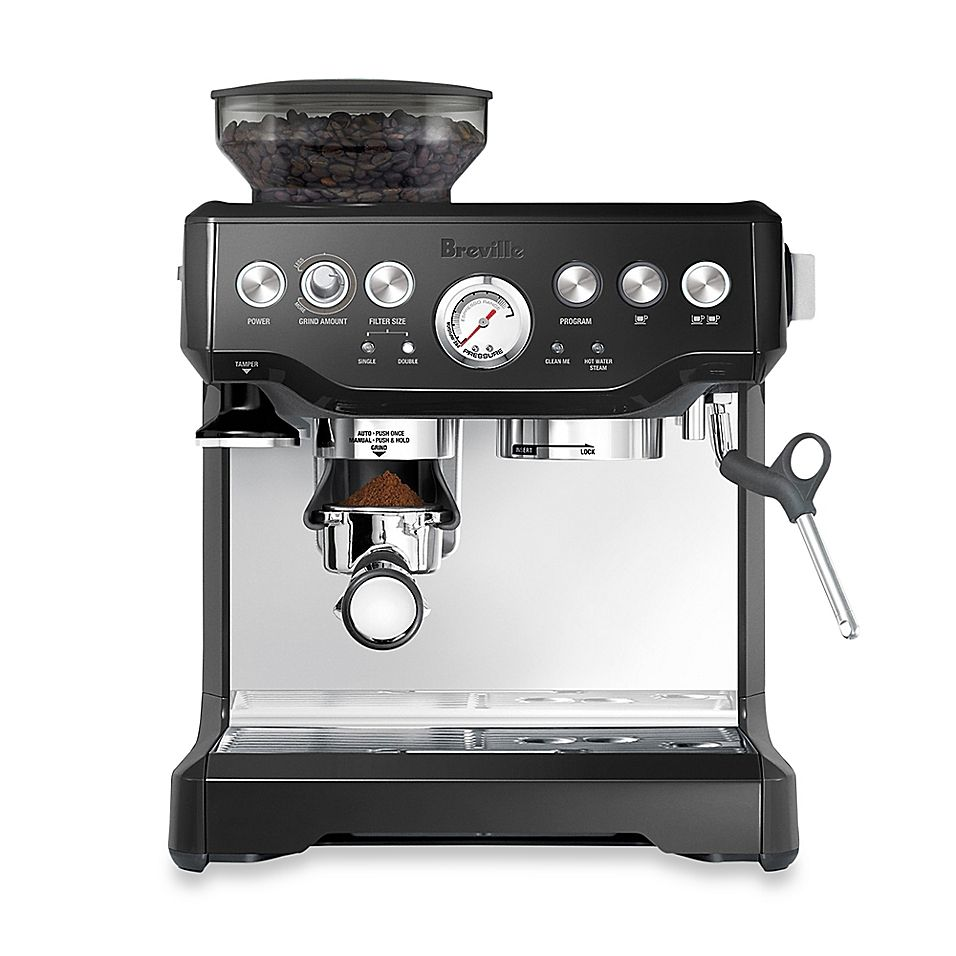 Breville The Barista Express Bes870bsxl Espresso Machine In Black Sesame In 2020 Breville Espresso Machine Espresso Coffee Machine Cappuccino Machine