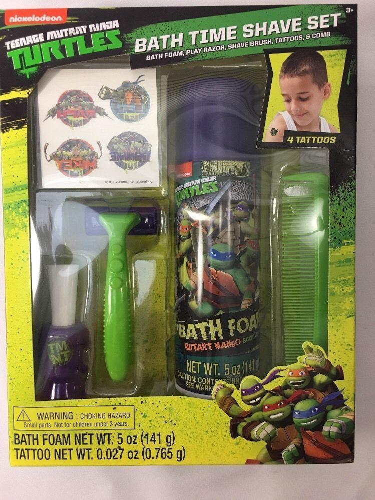 Teenage Mutant Ninja Turtle Boy S Shaving Shave Kit With Tattoo Bath
