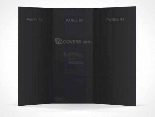 psd mockup 3 panel tri fold brochure horizontal flyer leaflet 8 5x11
