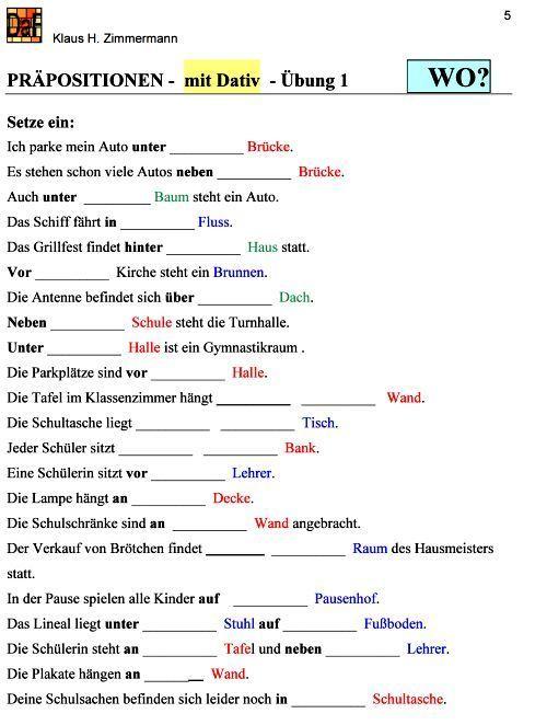 deutsch als fremdsprache daf daz grammatik pr positionen tieng duc german grammar learn. Black Bedroom Furniture Sets. Home Design Ideas