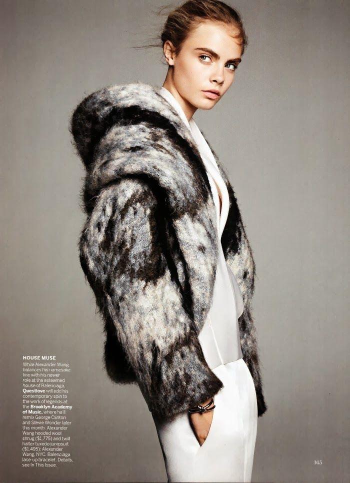Cara Delevingne photographiée par Karim Sadi pour Vogue USA octobre 2013