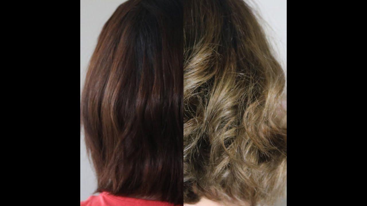 طريقه صبغ الشعر من بني غامق الى اشقر رمادي How To Dye Hair From Dark B Long Hair Styles Hair Hair Styles