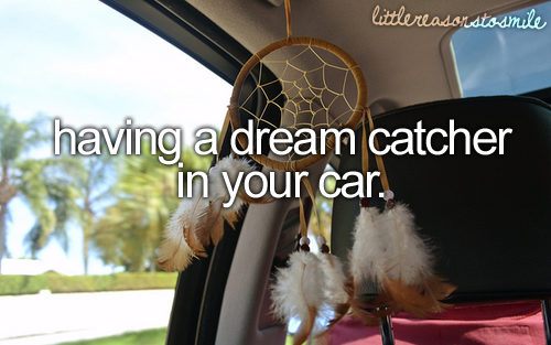 having a dreamcatcher in your car