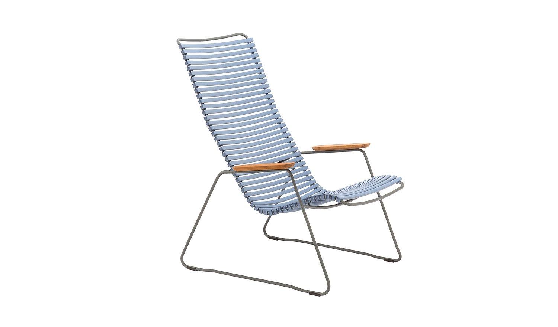Click Der Name Ist Bei Diesem Lounge Stuhl Programm Die Kunststofflamellen Lassen Sich Mit Einem Einfachen Klick An Dem Gestell Aus Grau Pulverbeschichtetem Stahl Befestigen Aus Einer Grossen Farbpalette Konnen Sie