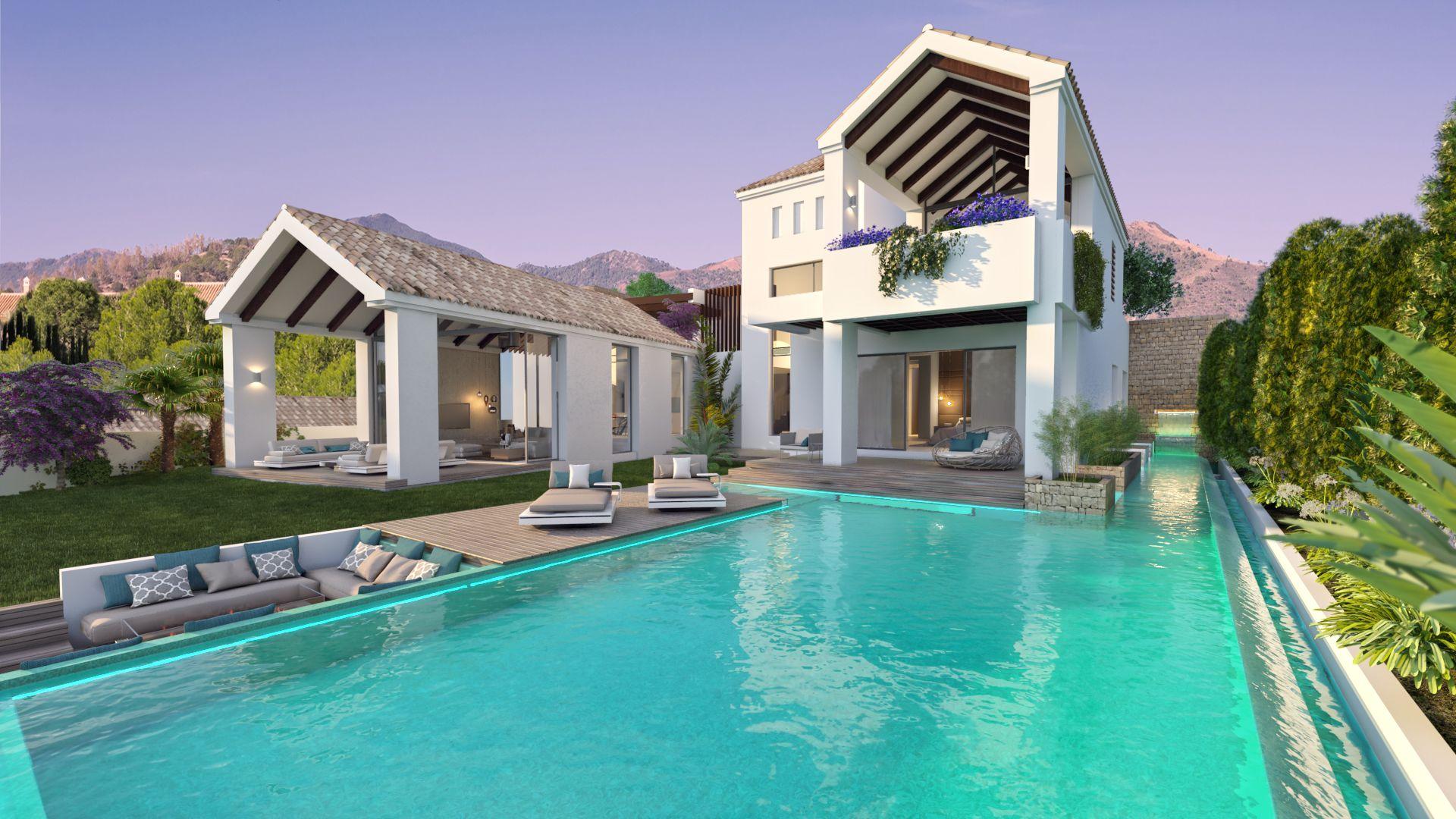 dd4e0ecef9 Direct pool access from bedroom luxury villa golf sea views Marbella Costa  del Sol The Heights at La Resina Estepona
