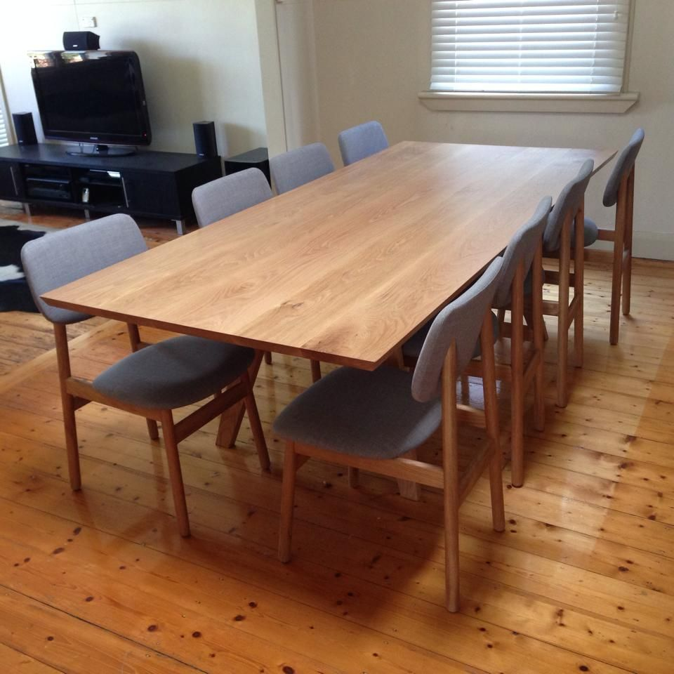 Timber dining table by eclipse handcrafted furniture