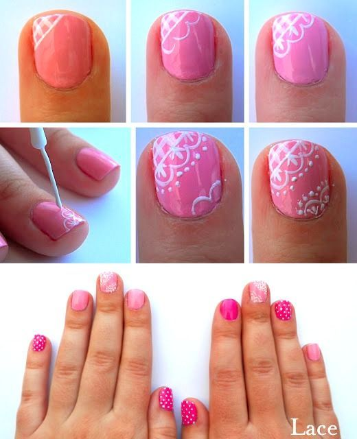 Toe Nail Art Designs Lace Google Search