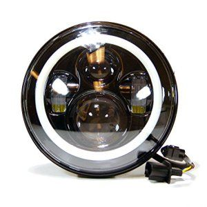 Genssi 7 Inch Round Angel Eyes Halo Rings Led Jeep