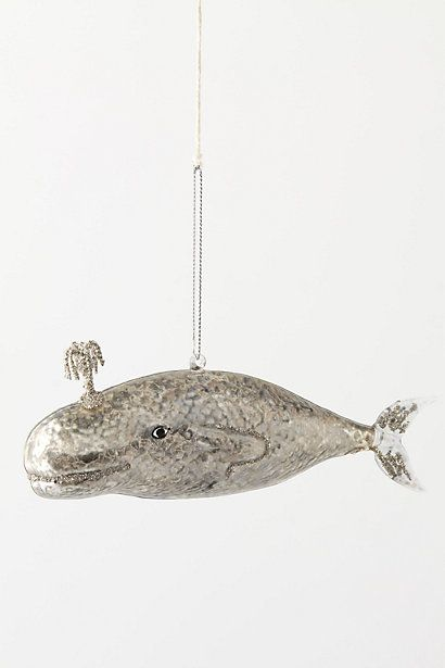 Anthro Whale Ornament - $16