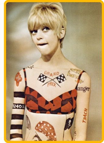 Goldie Hawn On Laugh In Pre School We Used To Draw Ourselves And Dance Around Out Bathing Suits Pretending Were Her