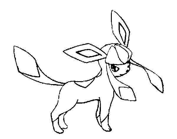 Glaceon Pokemon Coloring Pokemon Coloring Pages Drawings