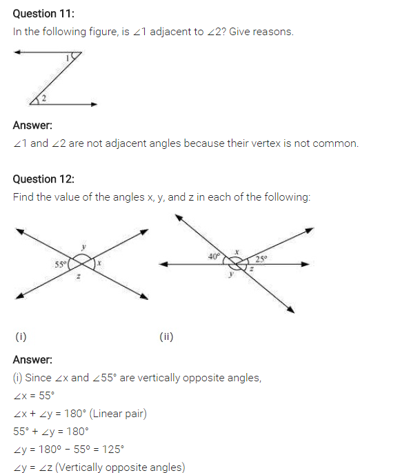 Ncert Solutions For Class 7 Maths Lines And Angles Exercise 5 1 08 Ncertsolutions Cbseclass7maths Ncertclass7 Maths Solutions Maths Ncert Solutions Math