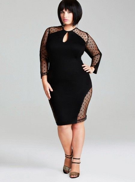 Curvy Fashionista Black Polka Dot Dress Black dress C U R V Y
