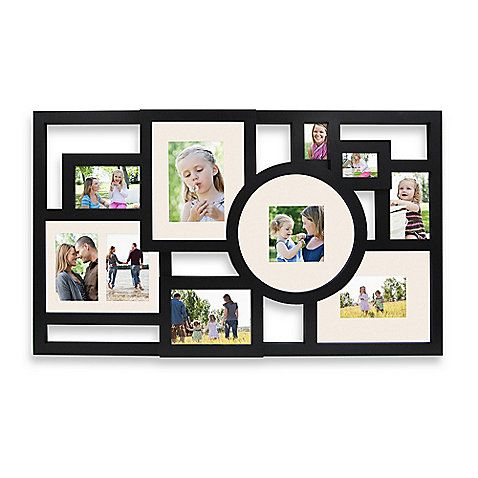 10 Picture Collage In Black Collage Picture Frames Picture Collage Collage Frames