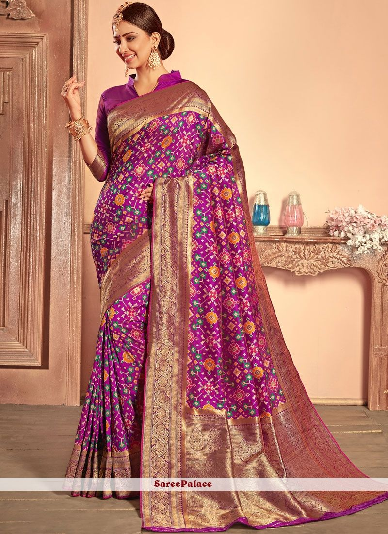 16a6f2fa36c0c Patola Silk Designer Traditional Saree