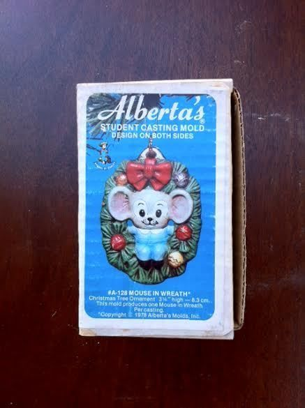Porcelain Mold Vintage Alberta/'s Mouse House Ornament Slip Casting Ceramic